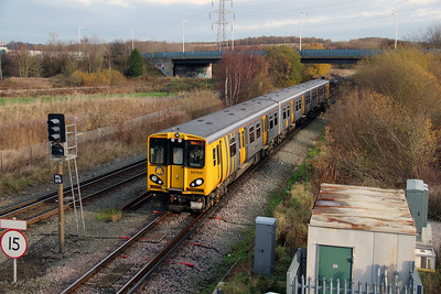 507 031 at Bidston on 3rd December 2013