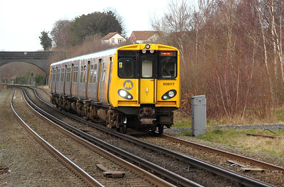 1) 508 117 at Bebington on 18th February 2012 working 2C31 1345 Chester to Chester