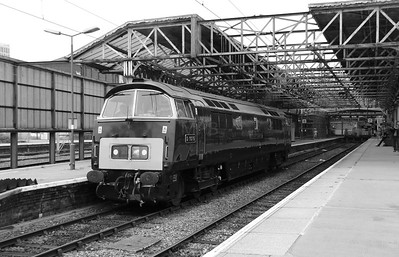 D1015 at Crewe on 5th September 2014  (B&W)