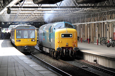 142 067 & 55 022 at Manchester Victoria on 20th June 2011