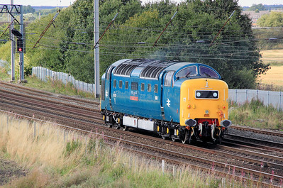 4) 55 022 at Winwick Junction on 4th September 2011 working 0Z76 1500 Crewe DHS to Heywood ELR