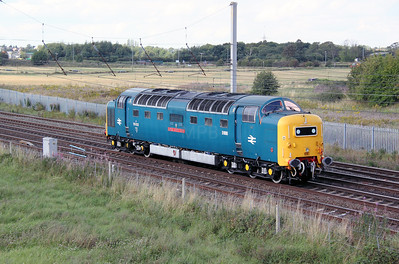 3) 55 022 at Winwick Junction on 4th September 2011 working 0Z76 1500 Crewe DHS to Heywood ELR