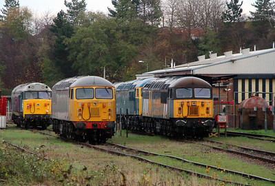56104 & 56301 at Leicester Depot on 11th November 2015