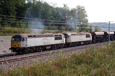 1) 56 031 & 56 032 near La Voie du Chatel (D11) on 25th August 2006