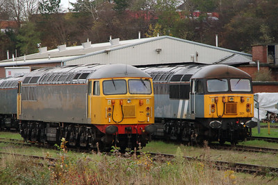 56 104 & 56 301 at Leicester Depot on 11th November 2015