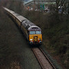 57 305 between Frodsham Junction & Halton Junction on 18th December 2014 (2)