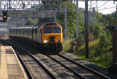 57 305 at Acton Bridge on 5th September 2004, Working 1F17