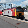 57 302 at Nuneaton on 8th May 2005, Working 1B43 1300 WVH-EUS
