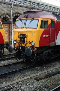 2) 57 302 at Crewe on 14th November 2004