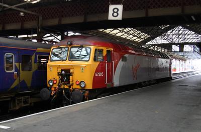 57 305 at Crewe on 14th November 2004