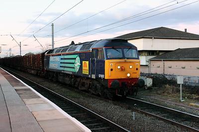 57 002 at Warrington Bank Quay on 10th February 2010 (27)