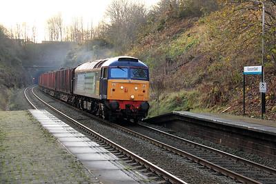 57 002 at Runcorn East on 17th December 2009