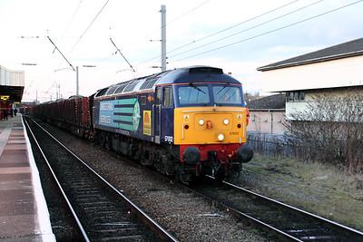57 002 at Warrington Bank Quay on 10th February 2010 (20)