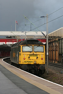 4) 57 001 at Crewe on 5th December 2008