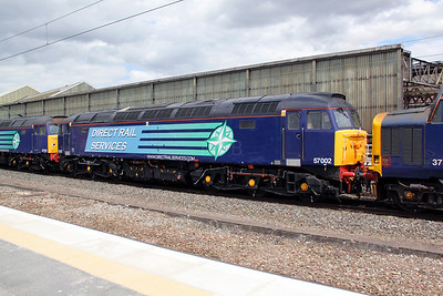 2) 57 002 at Crewe on 9th June 2011 working 0Z41 1030 Barrow Hill to Crewe Gresty Bridge.
