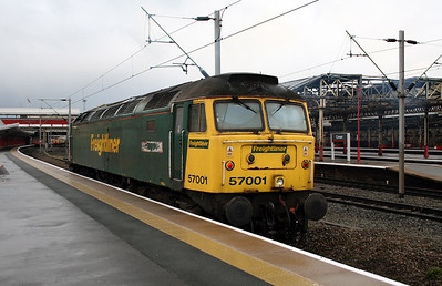 3) 57 001 at Crewe on 5th December 2008