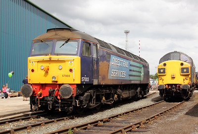 57 003 & 37 087 at Crewe Gresty Bridge on 10th July 2010 (2)