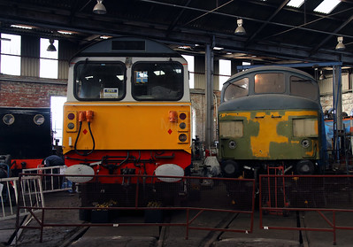 58 016 & 45 xxx at Barrow Hill on 9th March 2014