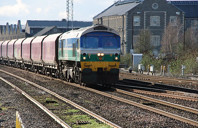 1) 59 001 at Swindon on 23rd February 2016