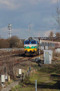 6) 59 001 at Swindon on 23rd February 2016