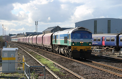 2) 59 001 at Swindon on 23rd February 2016