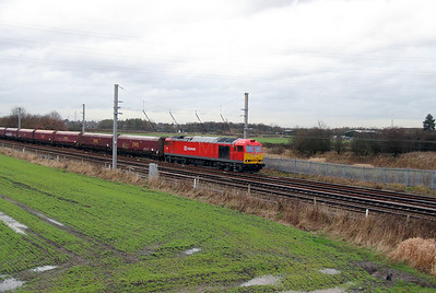 3) 60 024 at Winwick Junction on 19th December 2013 working 6F74 1211 Liverpool Bulk Terminal to Fiddlers Ferry Power Station