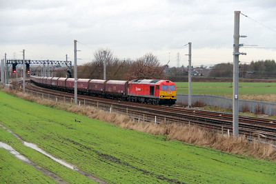 2) 60 024 at Winwick Junction on 19th December 2013 working 6F74 1211 Liverpool Bulk Terminal to Fiddlers Ferry Power Station