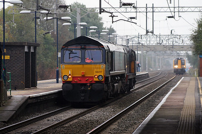66 417 at Acton Bridge on 3rd October 2007