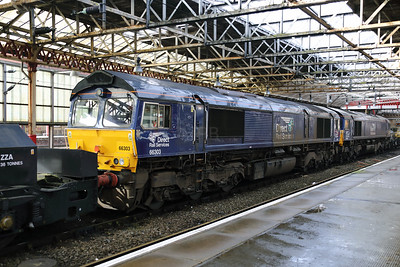 66 303 at Crewe on 4th March 2018
