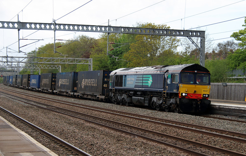66 427 at Tamworth Low Level on 13th May 2013
