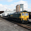 66 526 at Salford Central on 31st March 2008, working 6Z34 1240 Basford Hall to Pendleton (1)