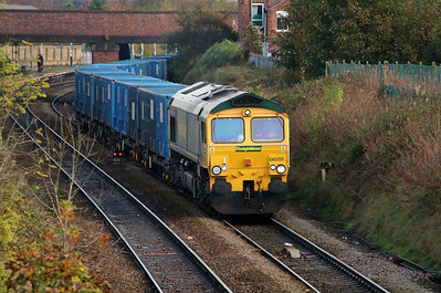 66 551 at Northwich East Junction on 24th October 2014 (3)