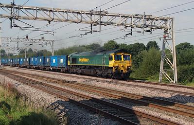 66 510 at Acton Bridge on 14th September 2016