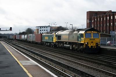 66 503 at Eastleigh on 12th January 2007
