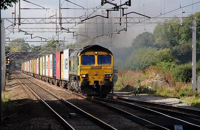 1) 66 504 at Acton Bridge on 18th September 2012 working 4L92