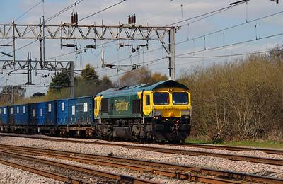 2) 66 528 at Acton Bridge on 19th April 2016