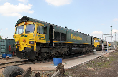 66 503 at Crewe Basford Hall Yard on 22nd May 2010 (2)