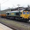 66 558 at Crewe on 30th November 2016