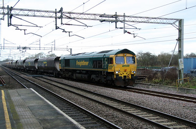 66 549 at Acton Bridge on 4th January 2017