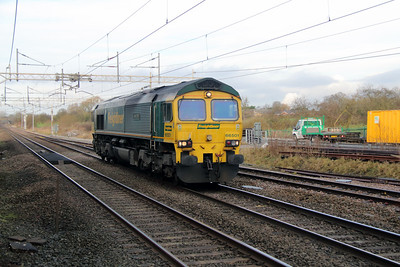 66 501 at Acton Bridge on 4th January 2013 working 0K89 0805 Ditton Yard to Basford Hall Yard