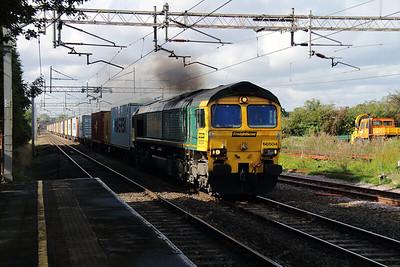 2) 66 504 at Acton Bridge on 18th September 2012 working 4L92