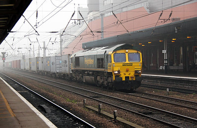 66 504 at Doncaster on 16th March 2011 working 4L87 1118 Leeds FLT to Felixstowe FLT