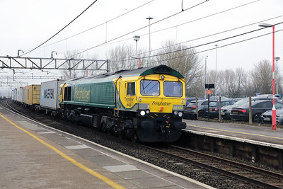 66 420 at Runcorn on 15th February 2017