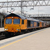 66 711 & 66 737 at Stafford on 5th March 2014
