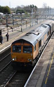 66 708 at Acton Bridge on 24th February 2015 (2)