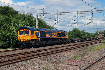 66 749 at Tamworth Low Level on 2nd July 2016