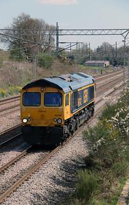 66 742 at Acton Bridge on 19th April 2016