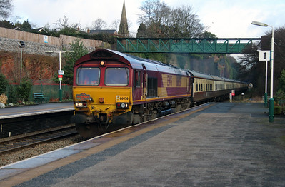 66 056 at Frodsham on 14th January 2017