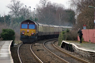 66182 at Frodsham on 14th January 2017