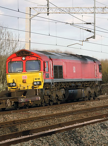 66 185 at Tamworth Low Level on 15th February 2018